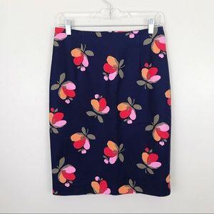 Boden Floral Pencil Skirt 6 Petite